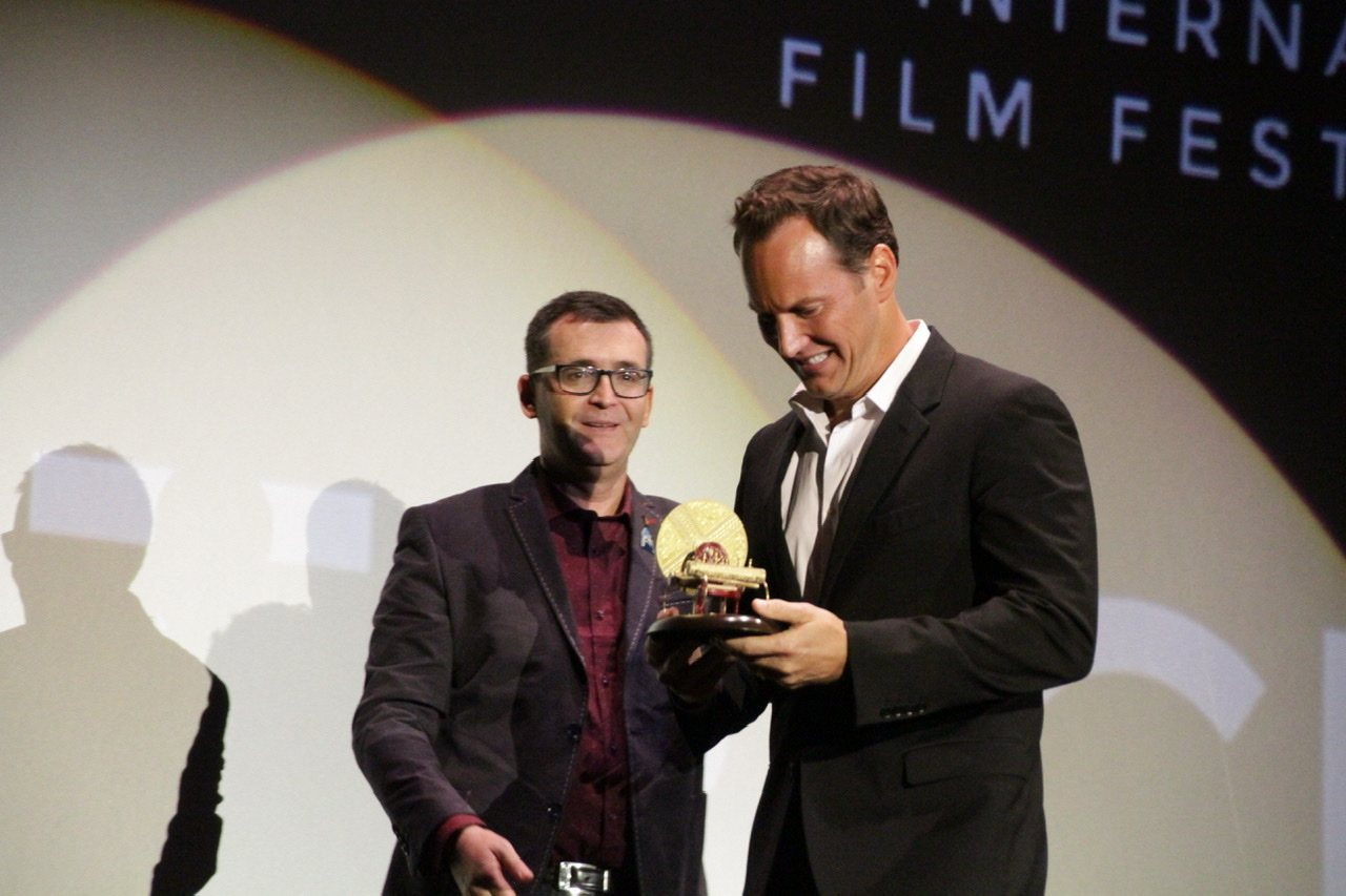 Patrick Wilson recibe el premio maquina del tiempo en Sitges film festival 2019