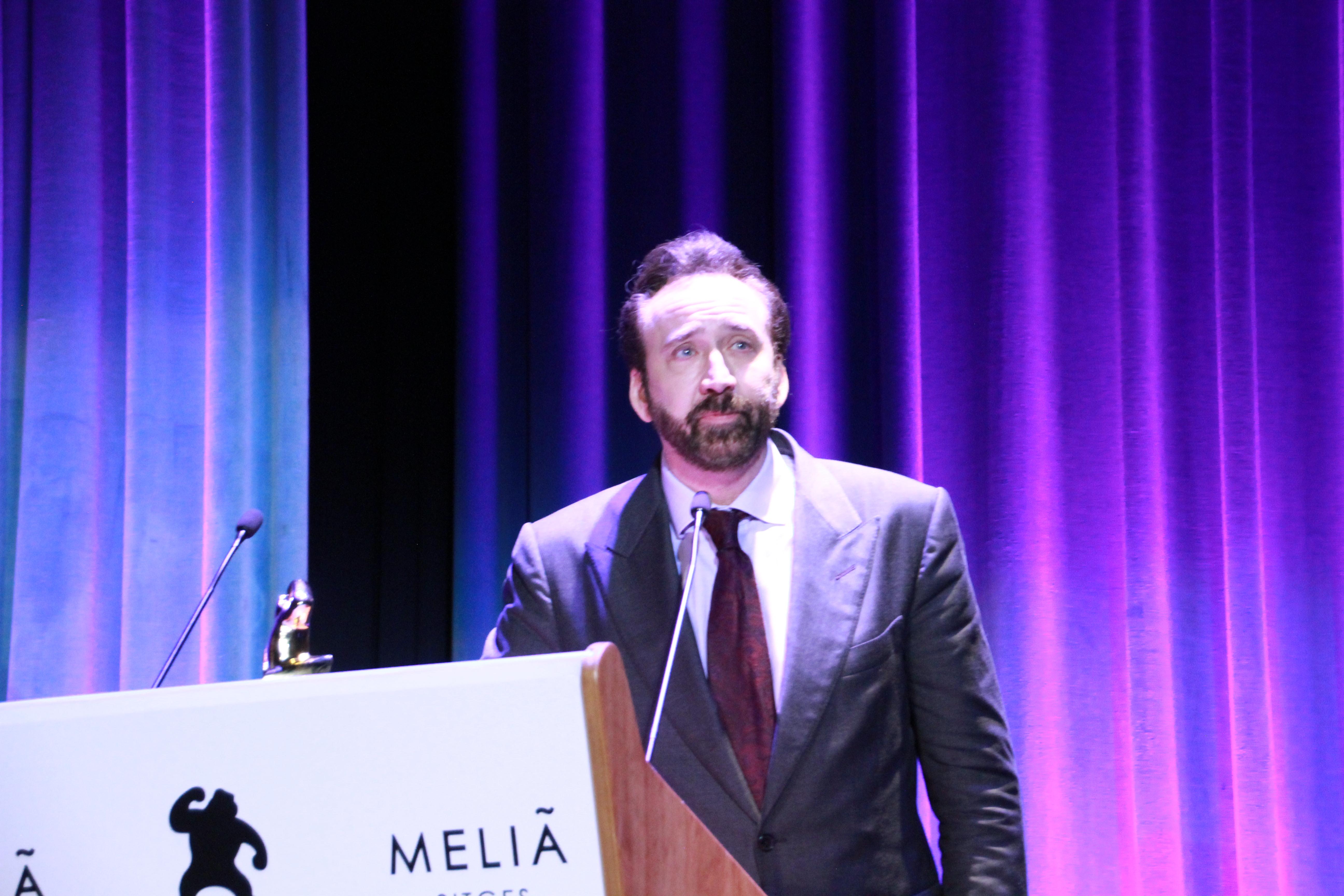 Nicolas Cage es premiado en Sitges Film Festival 2018
